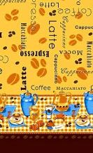 """Полотенце рогожка """"Кофе"""" желтый 40*75"""