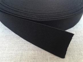 35мм. Резинка ткацкая 35мм, черная (рул.40м)