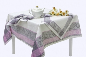 16с412-ШР / уп.150х150 Комплект столовый Ажурная цв 4 серый с розовым