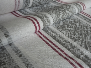 Холст полотенечный арт. 17с-12ЯК п/лен пестроткань жаккард Вышивка-3 серый, ширина 50см