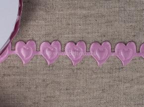 095030300 Лента декоративная шир.20мм, сердце розовый (уп.25ярдов/22,86м)