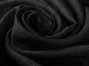 Ткань одежная гладкокрашеная умягченная арт 186071 МА Черный К1П1, 150см