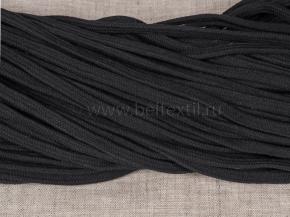 8мм. 2С210К-Г50 ШНУР БЫТОВОЙ 100% хлопок, черный 8мм (рул.50м)