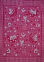 Одеяло п/шерсть в/уп. 50% 100*140 жаккард цвет бордо