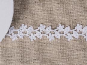 095030250 Лента декоративная шир.20мм, ветка белый (уп.25ярдов/22,86м)