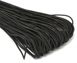 .2мм. 4С239Ч–Г50 (рис.5043) ШНУР ЭЛАСТИЧНЫЙ шляпный d.2мм, черный (рул.100м)