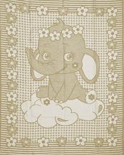 Одеяло п/шерсть 70% 100*140 жаккард цвет бежевый