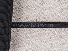 10мм. Резинка ткацкая 10мм, черный (рул.100м) Тип F