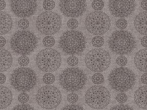 "Интерьерная ткань Меланж арт. 263 МАПС п/гр рис. 13276/3 ""Тарелочки"" коричневый, 150см"