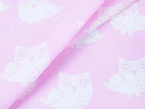 Бязь набивная плательная  рисунок 1682/2 розовый  ширина 150см