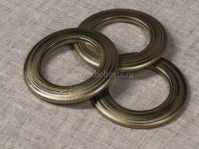 Люверсы AL 4Ф, потертое золото d-35мм (уп.10шт)