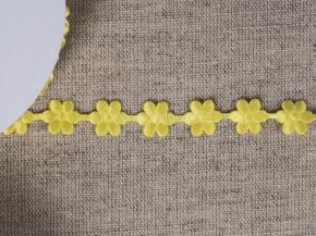 095030057 Лента декоративная шир.12мм, желтые цветы (уп.25ярдов/22,86м)