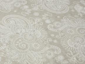 Ткань бельевая арт 06С-68ЯК п/лен отб набивной серый фон рис 1622/1 Марта, ширина 150см