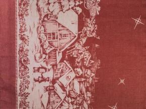 """07с-39ЯК 50*70 Полотенце """"Ночь перед Рождеством"""" цвет красный"""