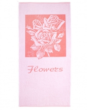 """4с82.111 67*150 """"Flowers-роза"""" полотенце махровое"""