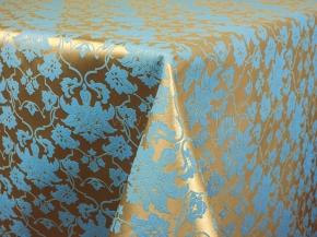 06С26-КВгл+ГОМ т.р. 1589 цвет 040403/310503 золото с голубым, ширина 155см