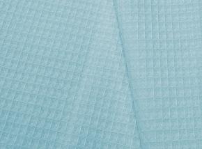 15с169/150 Вафельное полотно гл/кр крупная клетка 7*7 вес-230г/м2~9 голубой 024, 150см