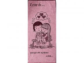 6с102.411ж1 Love is 2 Полотенце махровое 67х150см