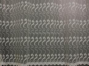 2.80м Сетка вышивка B56 37 V3-KREM, ширина 280см