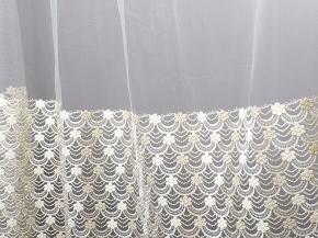 """Сетка вышивка """"Gold Line"""" FB 80291-144/285 SetB, ширина 285 см. Импорт"""