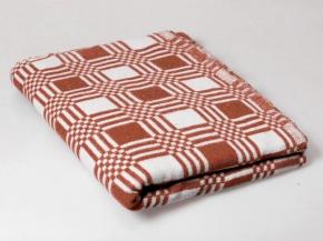 Одеяло хлопковое 170*200 клетка терракотовый