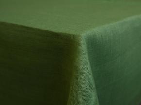 11С519-ШР 150*250 см. Скатерть 100% лен цвет 534 зеленый