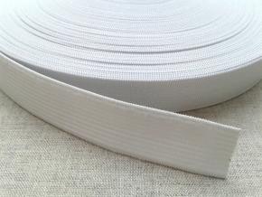 20мм. Резинка вязаная 20мм, белая (рул.25м) арт.20с6
