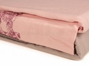 """19с105-ШР/уп. 220*210 КПБ """"Принт"""" цв 16 серый с розовым"""