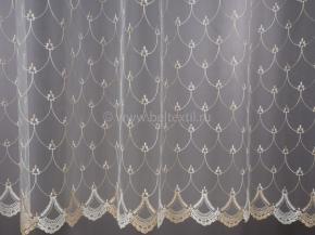 2.90м Сетка вышивка Valencia BR 12896-perla/290 SetB, ширина 290см