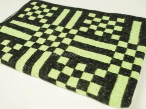 Одеяло хлопковое 100*140 клетка зеленый