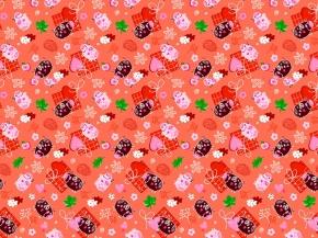 Полотно вафельное набивное 4Р-06-3 рис. 7788/3 Дося, ширина 150см