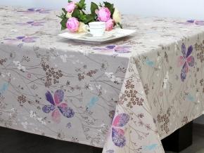 937-БЧ (802) Ткань х/б для столового белья набивная рис. 5028-01 Цветочки, ширина 145см