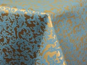 06С26-КВгл+ГОМ т.р. 1752 цвет 040403/310503 золото с голубым, ширина 155см