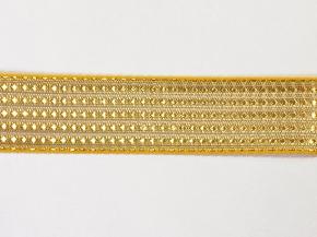 9073 ЛЕНТА ОТДЕЛОЧНАЯ золото с желтым 30мм (рул.50м)