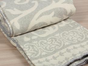 Одеяло хлопковое 170*205 жаккард  3/31 Завиток цв.серый