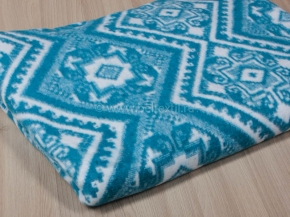 Одеяло байковое 200*205 жаккард цв. синий