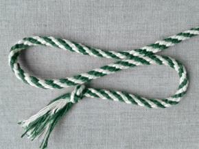ШХ8-007-2/6 Шнур, D-7мм, х/б 100%, белый/зеленый