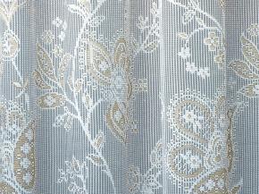 1.6м полотно гардинное Paloma HI 9501-1/160w белый, светло бежевый