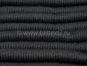 Трикотажное полотно ПАН 2:2 ширина 0,36м. 430гр/м2, черный