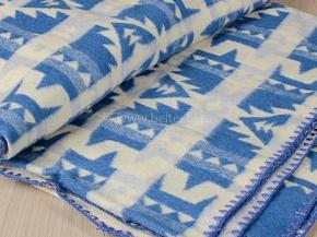 """Одеяло хлопковое 230*205 жаккард """"Аляска"""" цв синий 100%"""