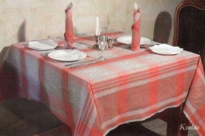 12С503-ШР/уп. 160*200 Комплект столового белья-скатерть и 6 салфеток 50х50