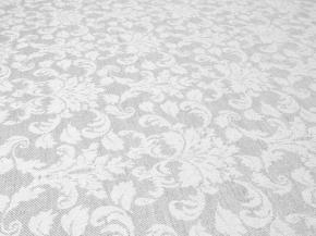 Ткань скатертная арт. 171323 п/лен отбеленный жаккард рис.1*270/1 Турецкий медальон, ширина 160см