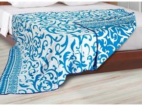 Одеяло хлопковое 140*205 жаккард 1.02 цвет голубой