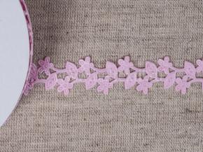 095030260 Лента декоративная шир.20мм, ветка розовый (уп.25ярдов/22,86м)