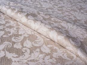 Ткань скатертная арт. 191007 п/лен п/вар. каландр жаккард рис. 1x270/2 Турецкий медальон, 190см
