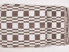 Одеяло хлопковое 140*205 клетка Колосок цвет коричневый