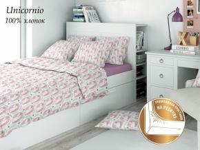 """КПБ ECO-cotton поплин с трикотажной простыней 215*145 """"Unicornio"""""""