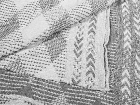 """18с230-ШР/у 100*160 Полотенце """"Аргайл"""" цв.34 серый"""
