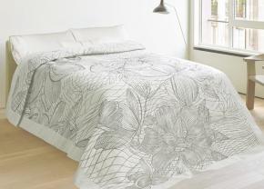 17с260-ШР 150*215 Покрывало Орхидея рисунок 120 цвет 3 серый