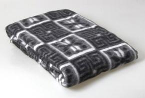 Одеяло п/шерсть 50% 140*205 жаккард темно-серый
